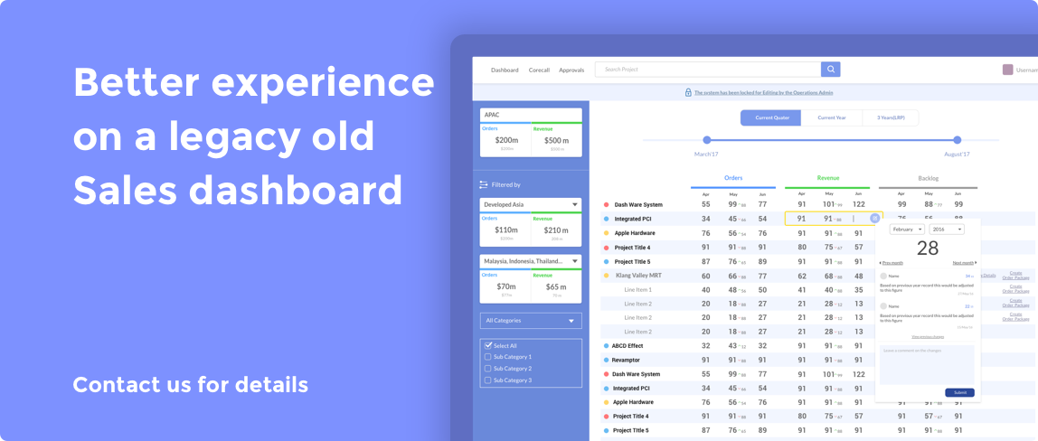 Better experience on a legacy old Sales dashboard